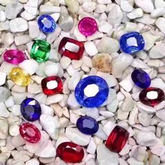 瑞大福彩宝红蓝宝石配石