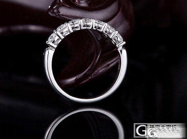 晶添顺 白18K排钻求婚结婚排镶钻戒 天然南非钻石戒指_金挚恒珠宝镶嵌