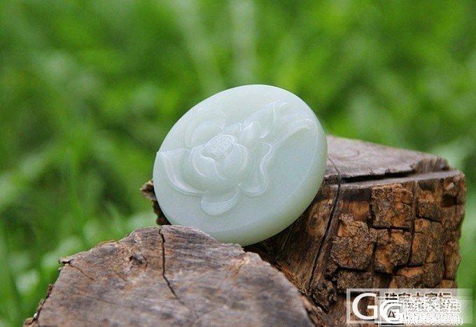 清涟——新疆和田白玉籽料镯子芯荷花雕件把件 雕刻精致 造型灵动_和田的小石头