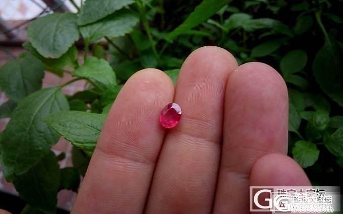 出个发过的小红宝,次1克拉,台面大,..._莫桑石珠宝
