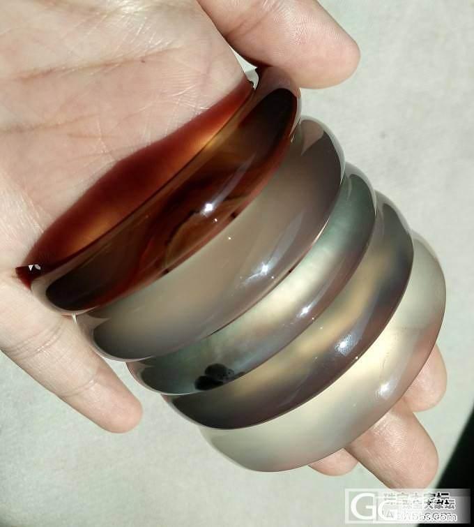 小圈口的MM们进来看看 50-53mm小圈口原色玉髓手镯_宝石