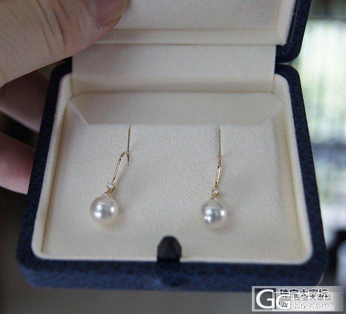 第一次买MIKIMOTO珍珠项链及耳环_珍珠