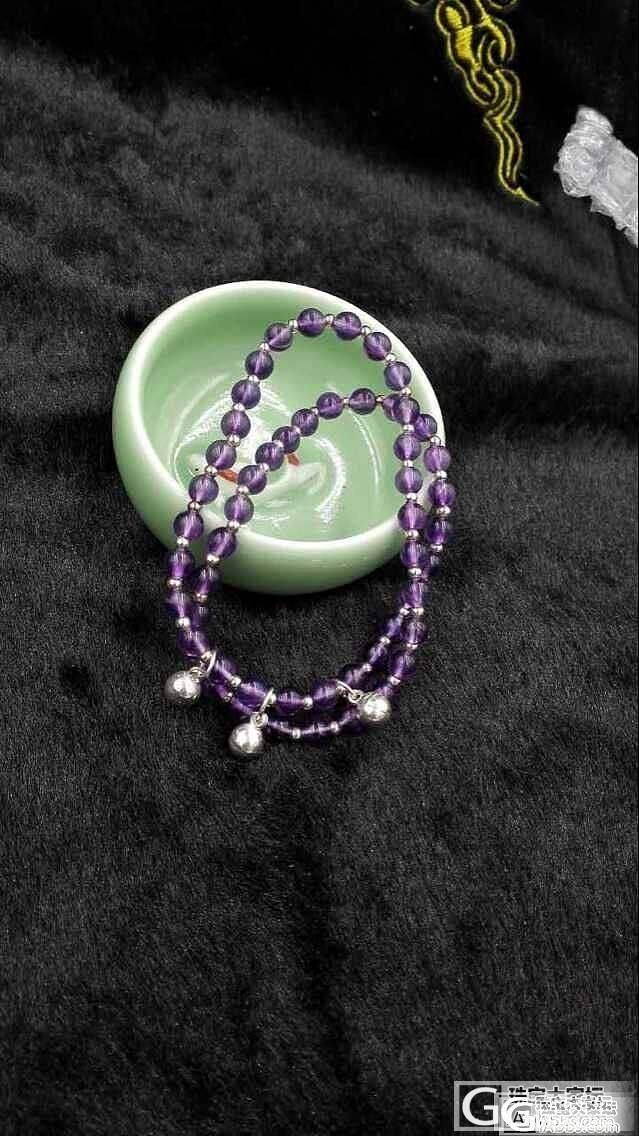 昨晚无聊,翻出家里的旧材料,DIY了一条手串,哈哈_珠串紫水晶