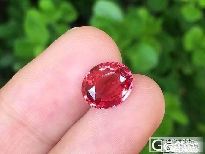 【尖晶石】2.08ct坦桑尼亚橘粉色尖晶,非常稀少,非常美艳_上海皇家蓝彩宝