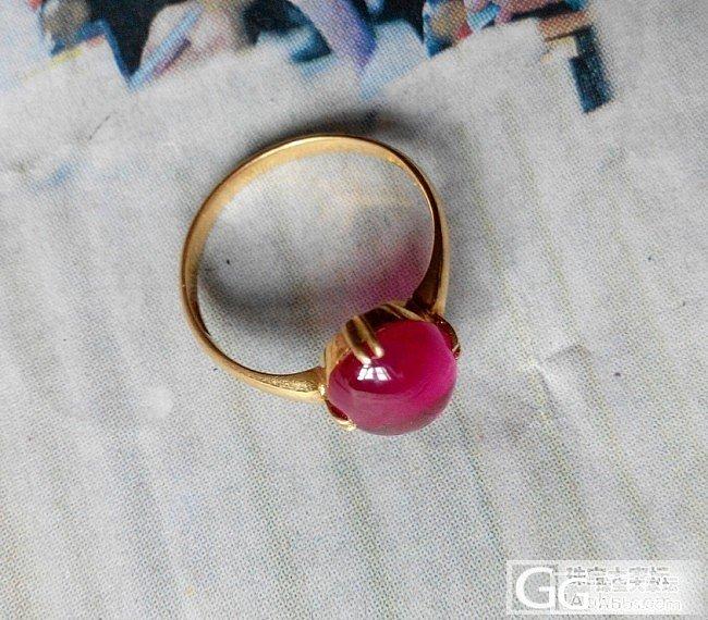 各位同仁,请帮忙看看这颗是红宝石吗_戒指蛋面红宝石