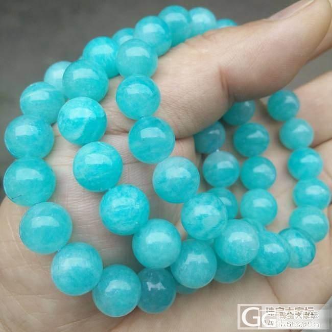 收藏5A级 纯天然冰种天河石手链 色..._有机宝石