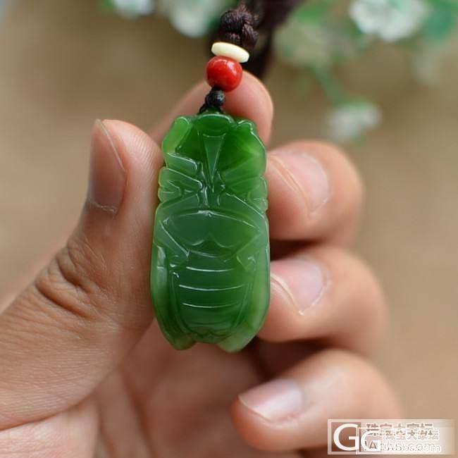 【伊洛瓦】阳绿小碧蝉,颜色十分鲜艳~菠菜绿荷花~粉白悟道_传统玉石