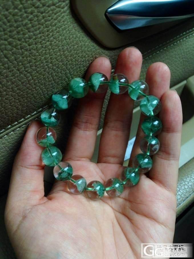 [已自刀]再见了美丽的头像  翡翠色青幽灵_宝石绿幽灵珠串