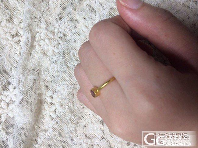 李师傅出品的2个碧玺小戒指哦(已经出...