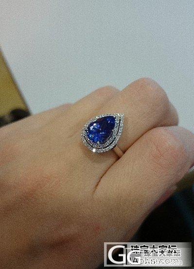 我的2.86ct坦桑石,色不算很蓝?..._坦桑石刻面宝石