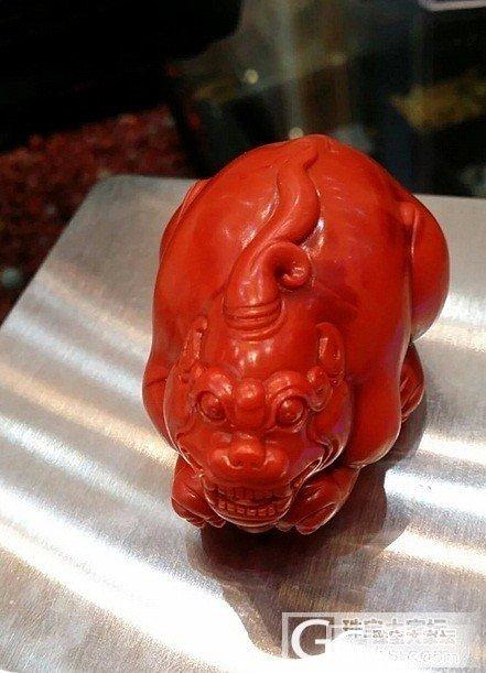 霸气的南红貔貅,  名家雕刻_南红