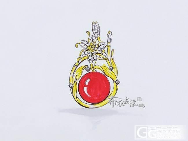 2015.5.4 阿卡圆珠吊坠胸针两用款手绘及成品图分享!!_布衣镶嵌
