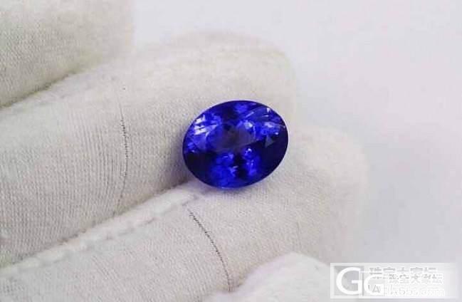 大家注意啦!市面上出现了镀膜坦桑石_坦桑石刻面宝石