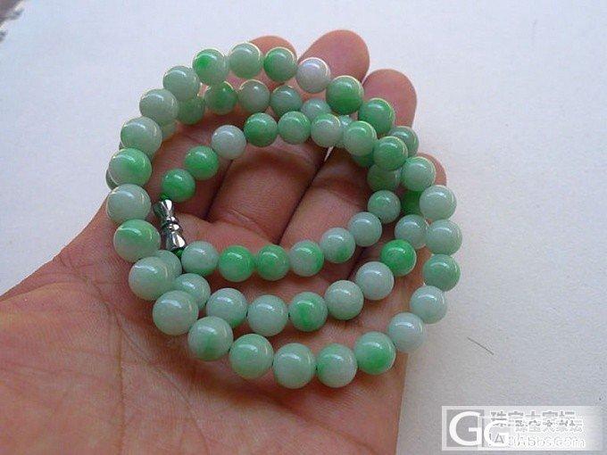 【韵玉阁】 阳绿手镯 阳绿吉祥如意一套 塔珠项链 宝宝佛_翡翠