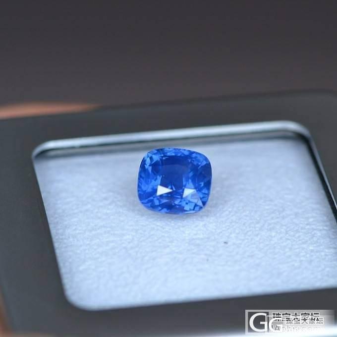 很美的一颗矢车菊_蓝宝石刻面宝石