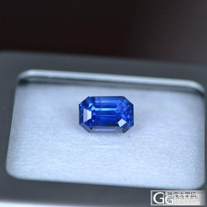 几颗漂亮的无烧蓝宝石_宝石