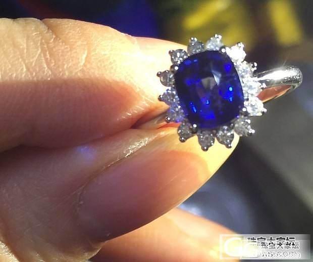 入手平生第一颗蓝宝石,有请园长评价_蓝宝石刻面宝石戒指