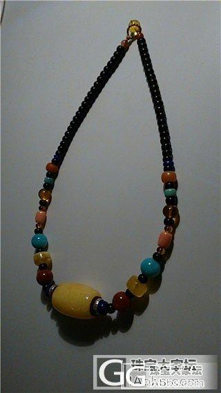 今儿晒个大桶子锁骨链,一定要够花~~..._珊瑚项链天河石松石南红蜜蜡
