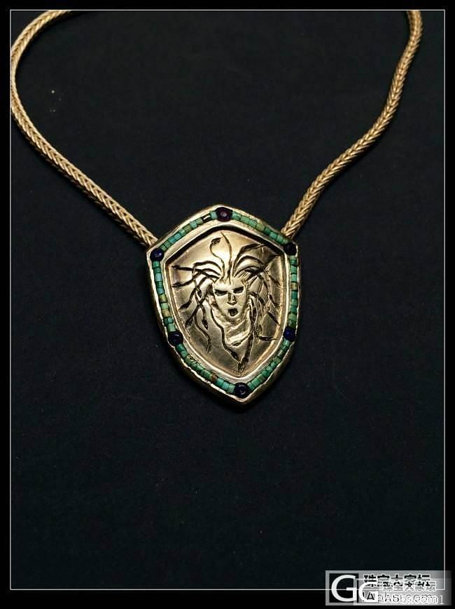 《密涅瓦的盾》银嵌宝石吊坠_吊坠银