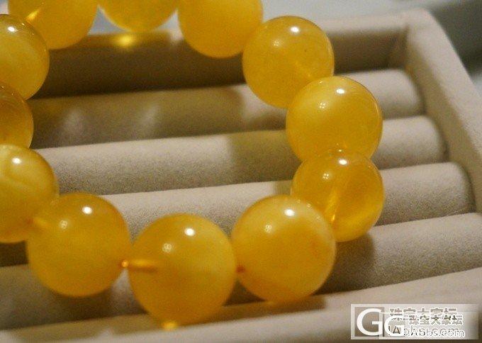 16mm鸡油黄金绞蜜一条_有机宝石