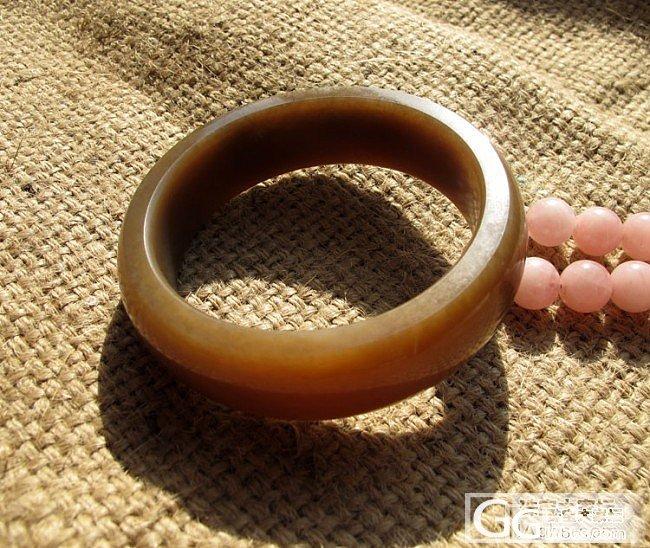 【姿涵的石头】和田玉红糖料手镯_传统玉石