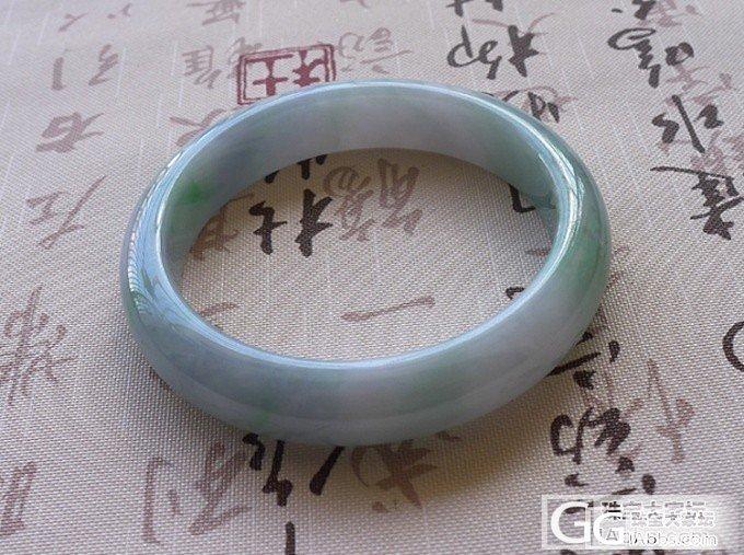 【广福珠宝】漂亮的春带彩圆镯,还有阳绿的翡翠戒面,还有几条百元级的手镯,_翡翠