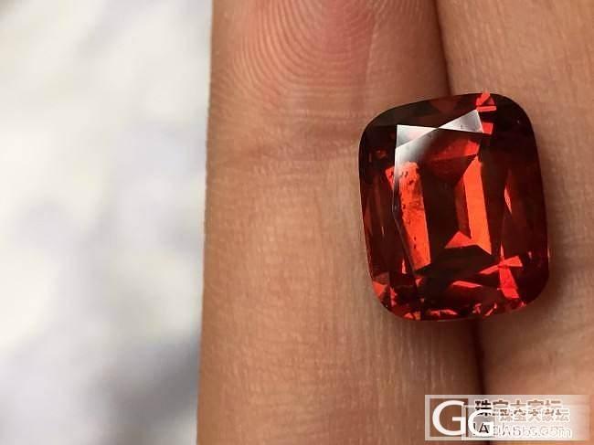 这个算锰铝榴石还是桂榴石_石榴石刻面宝石