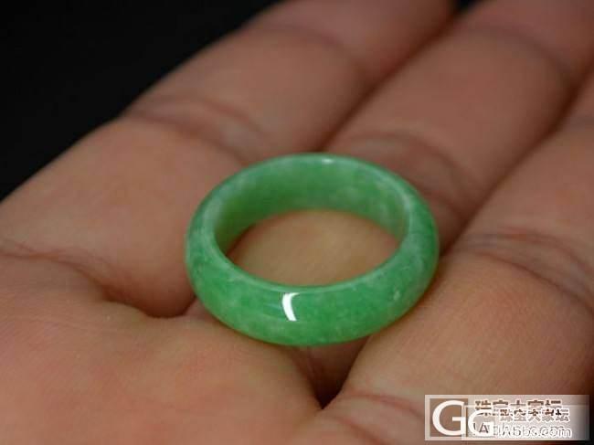 创汇时期旧翡翠【苹果绿指环】满翠满绿..._翡翠