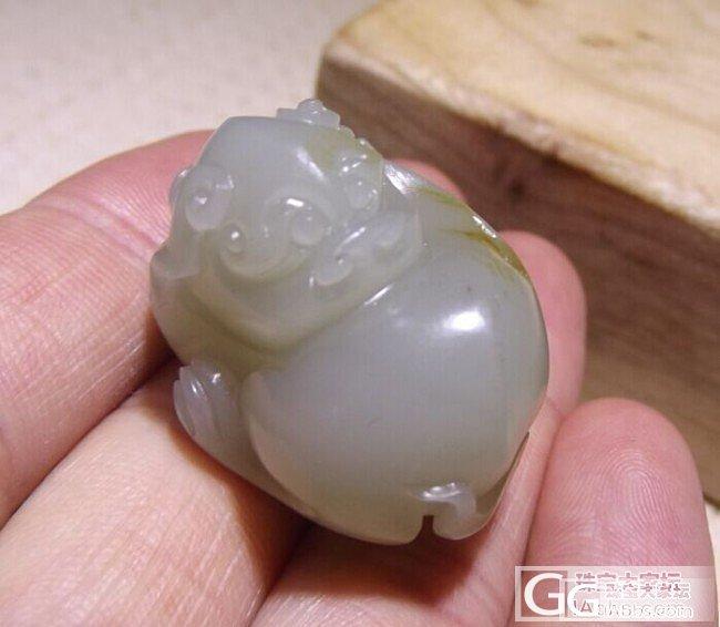 【俊俏玉庄 】新疆和田玉籽料 细润萌兽 25.4克!_传统玉石