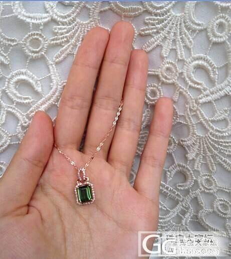 天然碧玺戒指 18k金天然钻石镶嵌 ..._珠宝