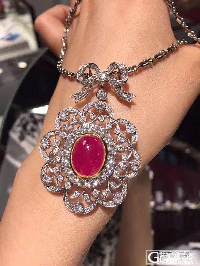 朋友日本中古店淘到的缅甸红宝项链~复..._红宝石