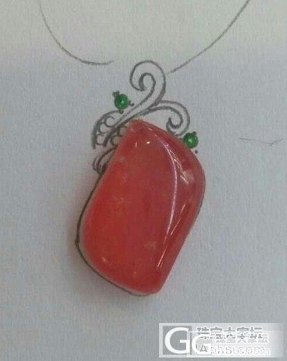 自己设计自己做,我的首饰我做主哈_红纹石设计挂件