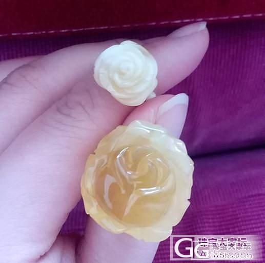 晒新入蜜蜡玫瑰戒指和仅有的三件蜜蜡心..._有机宝石蜜蜡