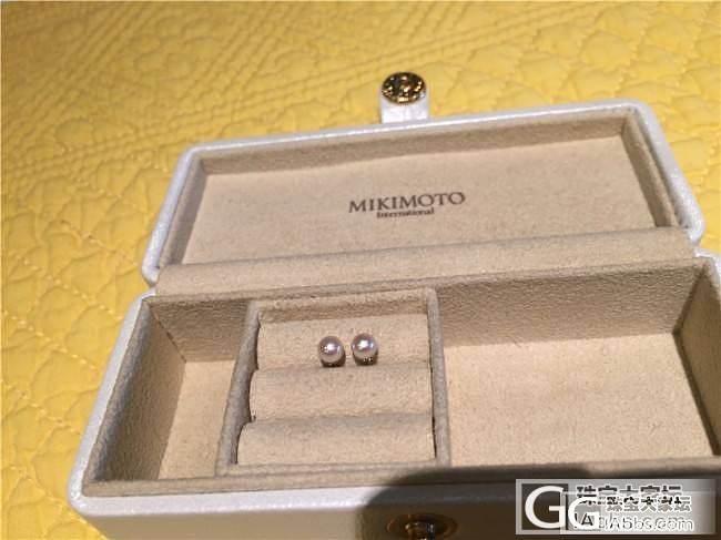 三千世界---18K 4-4.5mm 日本akoya海水珍珠 耳钉_三千世界
