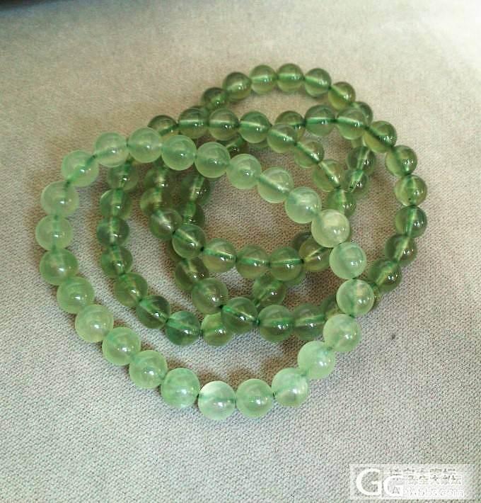 8.5更新:极品绿发晶貔貅一对 葡萄石手链 碧玺手排 手链  求速出啊_宝石