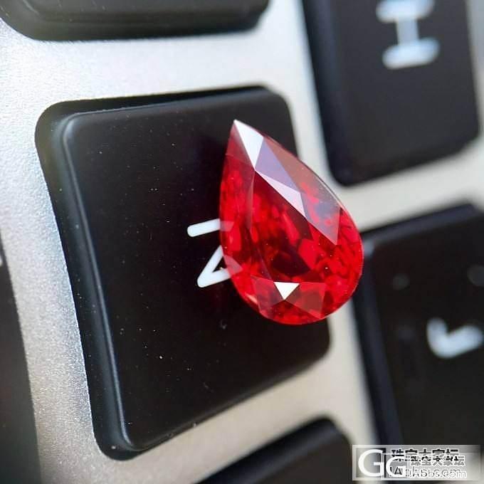 莫桑比克也有颜色很亮的鸽血红_红宝石刻面宝石