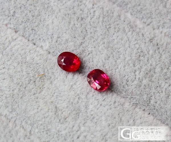 【彩石记】红宝石耳钉耳坠戒面裸石_珠宝