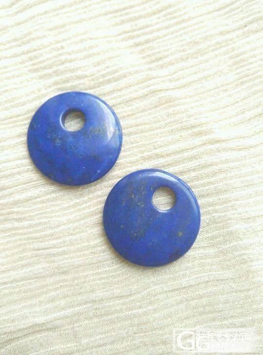 出蓝紫色系青金戒面 坠子 扣子 手链..._宝石