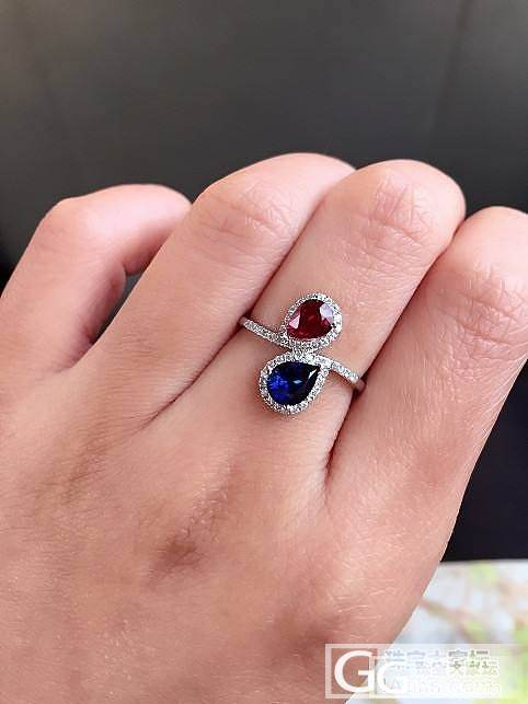 最近新做的红蓝宝小戒指_红宝石