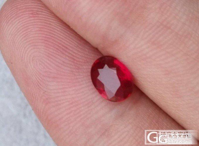 看了一颗红宝,拜托各位掌掌眼!_红宝石刻面宝石