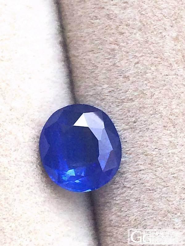 1.77克拉蓝宝石矢车菊色,丝绒感明显_宝石