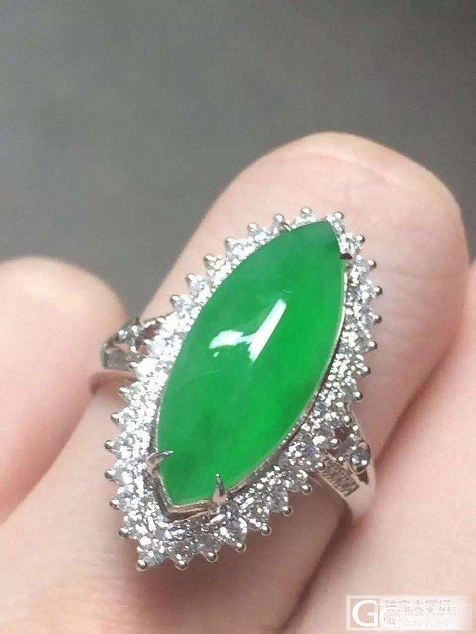 满绿的马眼和凤眼翡翠戒指大家喜欢那种_戒指