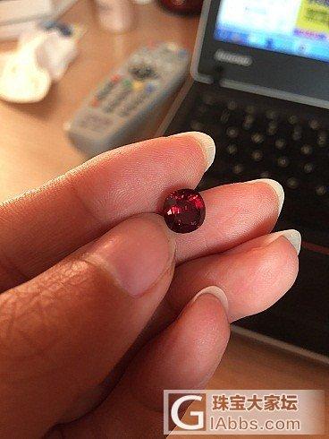 最近收的一颗不太成功的红尖晶_尖晶石刻面宝石