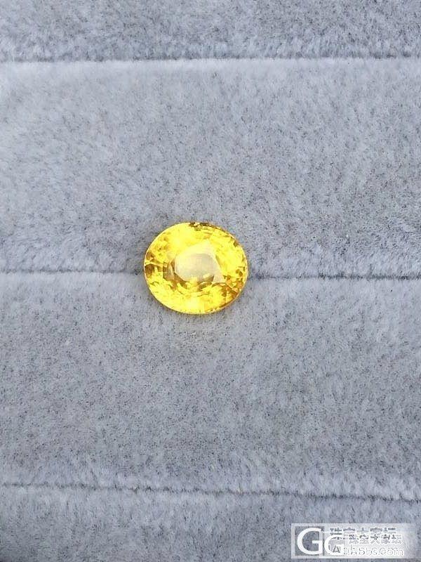 晒晒新入的6克拉多无烧黄色蓝宝石!~..._蓝宝石刻面宝石