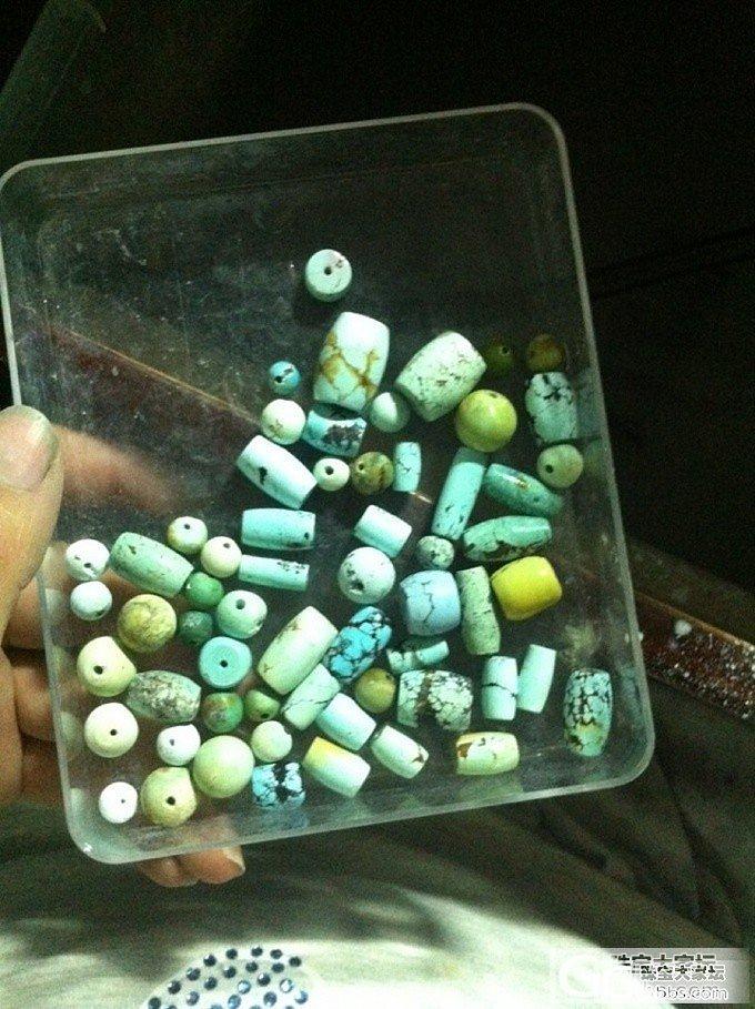 出自己磨的松石~桶珠圆珠戒面什么的~慢慢增加~~顺便收些东西~_传统玉石