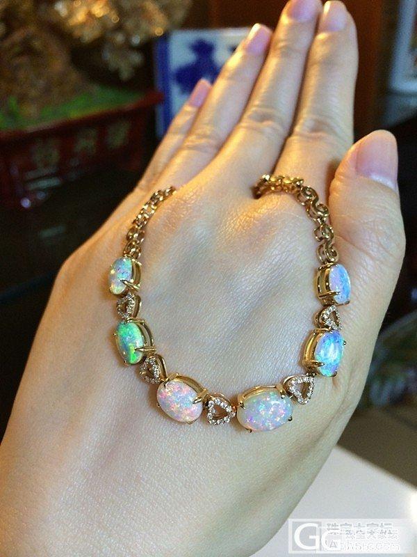 18K金钻区泊手链1条,沙丁手链2条_宝石