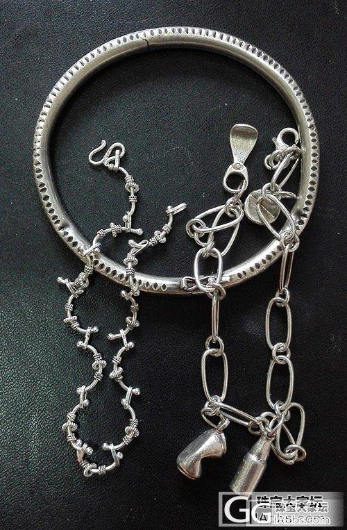 只有三件银饰,三款风格不同,各有纪念意义~(附上手照)_手镯手链银