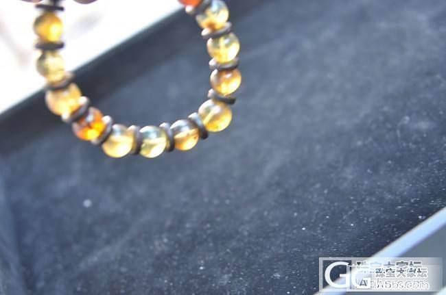 天然琥珀手链10MM_有机宝石