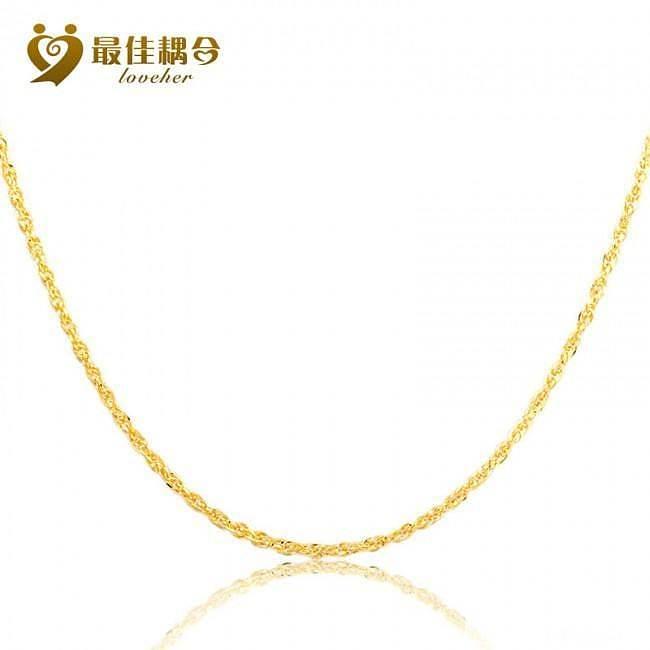 千足金的项链,285元/克,包括手工和证书费用_珠宝