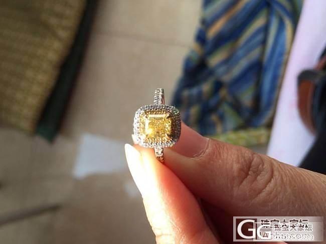 大家帮看看 刚买的黄钻_钻石